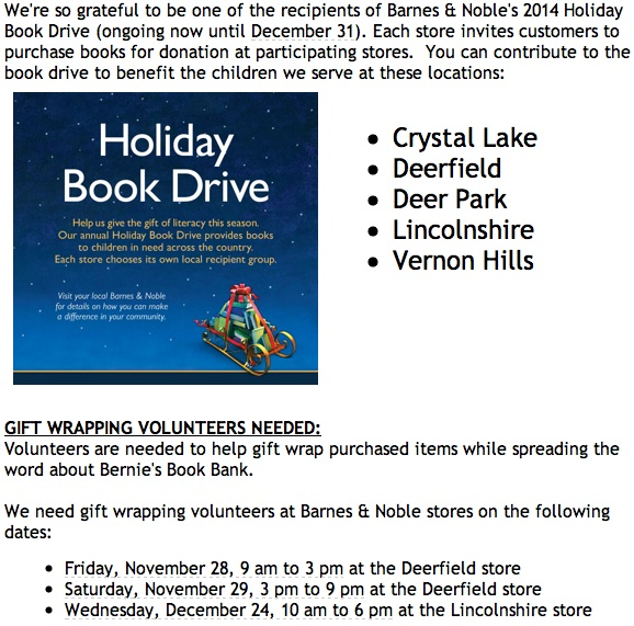 Bernie's Book Bank Holiday Drive